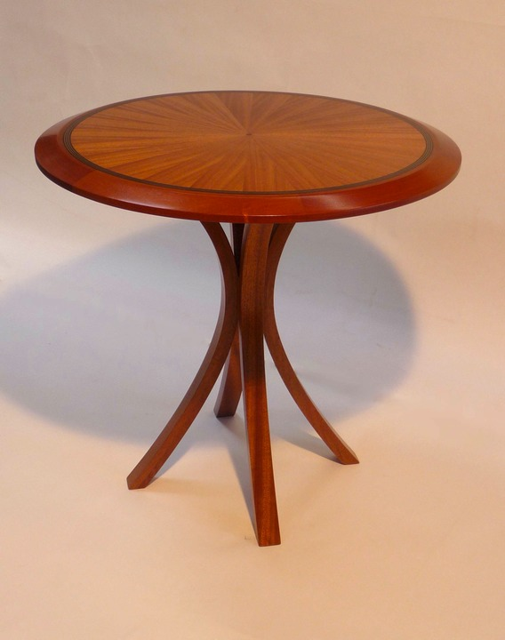 5 End Table Dark African Mahogany Blue Ribbon Woodwork