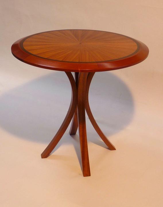 5 End Table Dark African Mahogany Blue Ribbon Woodwork